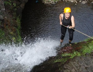 Rappelling down waterfalls is easier than it is to finish a book.