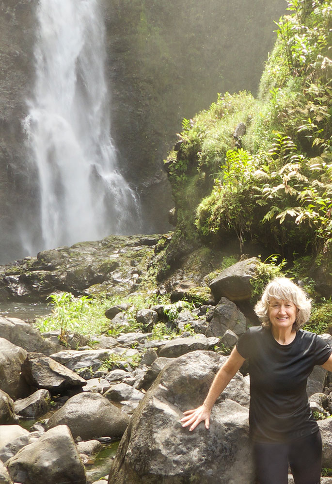 ITOO's author mj hoping to tap into Maui's waterfall divas.